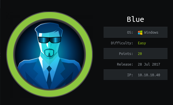 HackTheBox Blue (10.10.10.40) Writeup