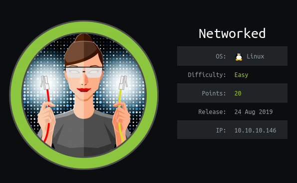 HackTheBox Networked (10.10.10.146) Writeup