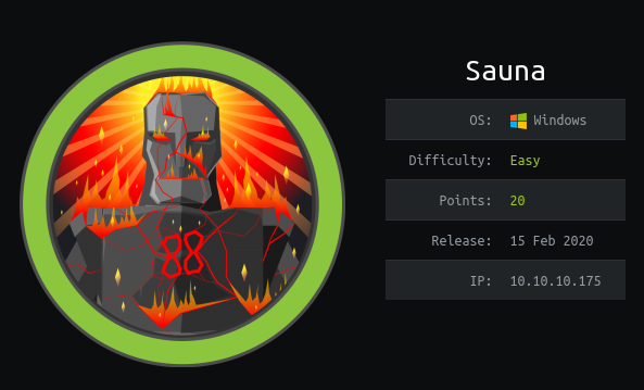 HackTheBox Sauna (10.10.10.175) Writeup