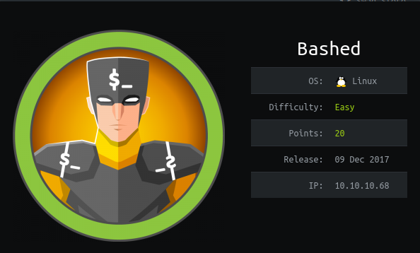 HackTheBox Bashed (10.10.10.68) Writeup