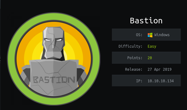 HackTheBox Bastion (10.10.10.134) Writeup