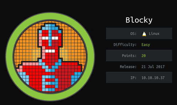 HackTheBox Blocky (10.10.10.37) Writeup