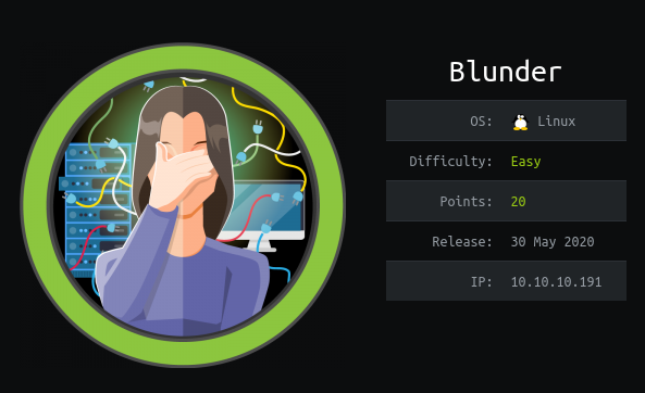 HackTheBox Blunder (10.10.10.191) Writeup