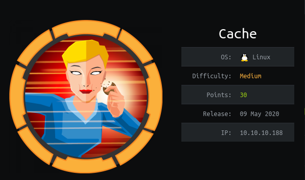 HackTheBox Cache (10.10.10.188) Writeup