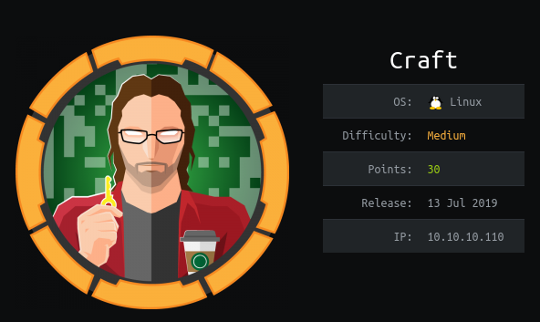 HackTheBox Craft (10.10.10.110) Writeup
