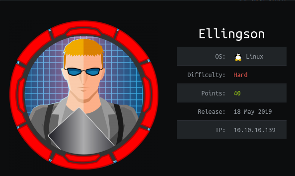 HackTheBox Ellingson (10.10.10.139) Writeup