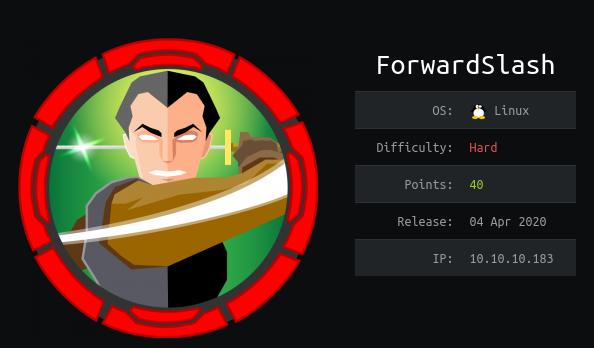 HackTheBox ForwardSlash (10.10.10.183) Writeup