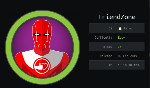 HackTheBox Friendzone (10.10.10.123) Writeup