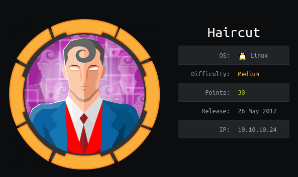 HackTheBox Haircut (10.10.10.24) Writeup