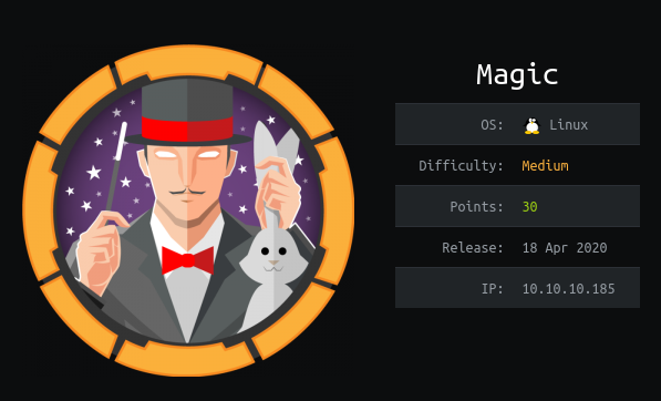 HackTheBox Magic (10.10.10.185) Writeup