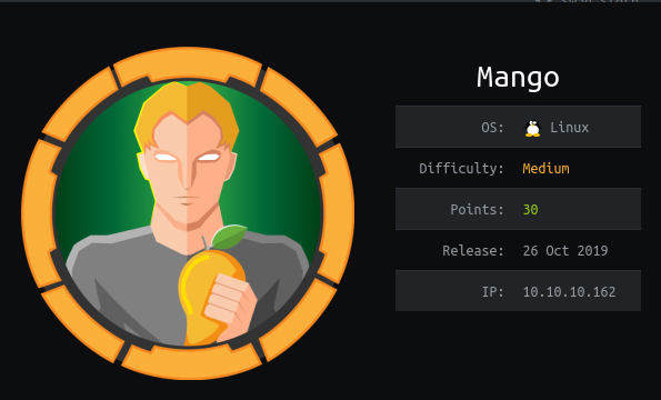 HackTheBox Mango (10.10.10.162) Writeup