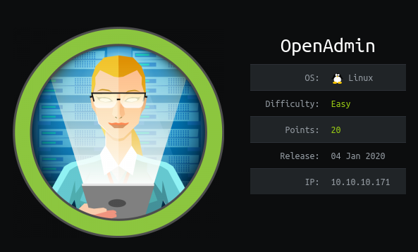 HackTheBox OpenAdmin (10.10.10.171) Writeup