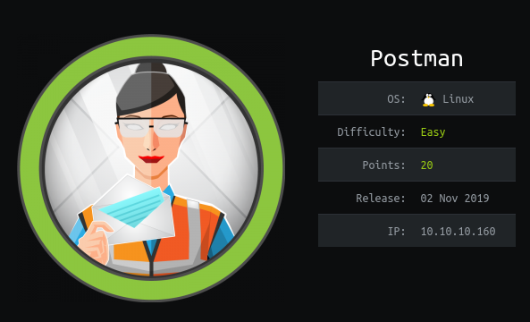 HackTheBox Postman (10.10.10.160) Writeup