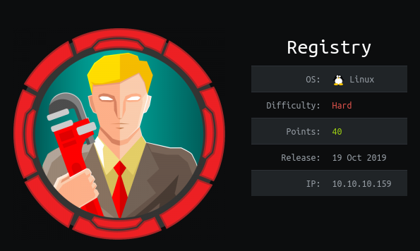HackTheBox Registry (10.10.10.159) Writeup