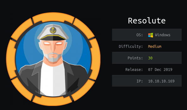 HackTheBox Resolute (10.10.10.169) Writeup